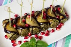 Involtini di melanzane al tonno Hors D'oeuvres, Ricotta, Starters, Finger Foods, Eggplant, Entrees, Catering, Seafood, Food And Drink