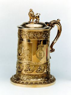 William IV silver-gilt yachting trophy 'The King's Cup', in the form of a tankard won by the racing cutter 'Alarm', 21 August 1830.