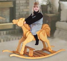 Gorgeous rocking horse is the perfect size for children ages 3 to Make it from layers of and 1 wood and our full-size pattern. Rocking Horse Plans, Horse Swing, Rocking Horses, Woodworking Inspiration, Woodworking Patterns, Woodworking Projects, Wooden Ride On Toys, Wood Toys, Diy Platform Bed Plans