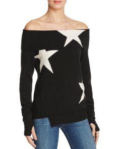 PAM & GELA Star Intarsia Off-The-Shoulder Sweater | Bloomingdale's