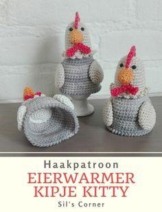 Free Crochet, Crochet Hats, Easter Crochet Patterns, Easter Eggs, Kitty, Diy Crafts, Knitting, Projects, Crochet Baskets