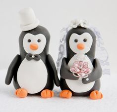 Penguin Wedding Cake Toppers by artsinhand on Etsy Penguin Cake Toppers, Penguin Cakes, Wedding Cake Toppers, Wedding Cakes, Our Wedding, Dream Wedding, Wedding Stuff, Penguin Wedding, Wedding Cake Inspiration