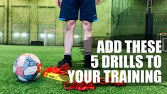 Freestyle tricks and free kicks won't make you perform better on match day. Here are 5 soccer training drills you should add to your training to become. Soccer Training Drills, Soccer Workouts, Soccer Drills, Agility Training, Training Tips, Soccer Center, Soccer Gifs, Different Exercises, Free Kick