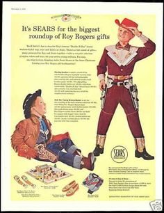 Roy Rogers Cowboy Clothes Toys Vintage Sears (1956)