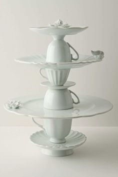 source: Anthropologie ~ LOVE this tea service cookie stand from anthro