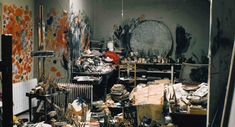 Francis Bacon's studio Google Image Result for http://www.askyfilledwithshootingstars.com/wordpress/wp-content/uploads/2009/06/34_perry-ogden_photo-of-francis-bacon-reece-mews-studio.jpg