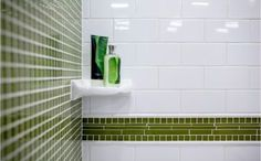 Match your tile perfectly with porcelain bathroom fixtures. Stop into The Tile Shop to find porcelain towel bars, soap dishes, shower shelves and toilet paper holders. Wall Tiles Design, Bathroom Tile Designs, Bathroom Renos, Bathroom Fixtures, Bathroom Ideas, Bathroom Remodeling, Bathroom Layout, Bathroom Gallery, White Subway Tiles