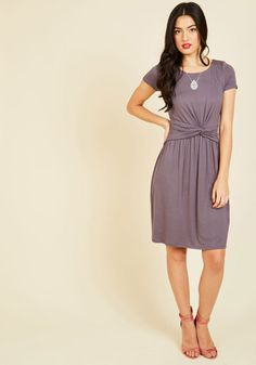 A Whole New Whorl Jersey Dress in Lavender | Mod Retro Vintage Dresses | ModCloth.com