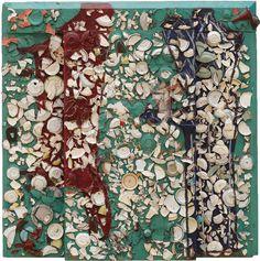"Julian Schnabel's Divan, 1979, is on view at Aspen Art Museum show ""Julian Schnabel Plate Paintings 1978–86"" until February 19, 2017."
