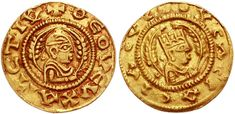 Aksumite gold coins. Classical Numismatic Group, Inc. http://www.cngcoins.com A gold coin of the Axumite king Ousas, specifically a one third solidus, diameter 17 mm, weight 1.50 gm. Catalogue reference: Munro-Hay 85.