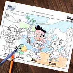 Jake and the Never Land Pirates Coloring Page