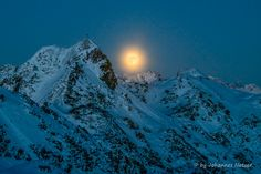 Vollmond – Supermond über den Alpen Mount Everest, Mountains, Nature, Travel, Full Moon, Alps, Naturaleza, Viajes, Destinations