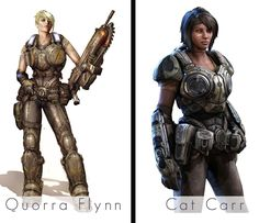 Sam Byrne and Anya Stroud- Gears of War