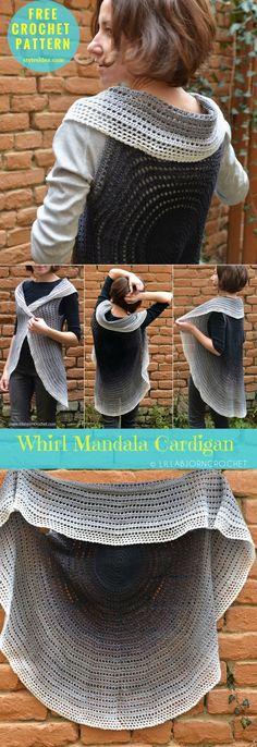 Whirl Mandala Cardigan [Free Crochet Pattern] | My Hobby