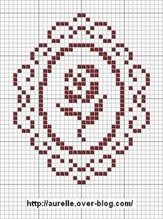 Framed rose x-stitch Mini Cross Stitch, Cross Stitch Borders, Cross Stitch Flowers, Cross Stitch Charts, Cross Stitch Designs, Cross Stitching, Cross Stitch Patterns, Diy Embroidery, Cross Stitch Embroidery