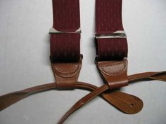 For those who want to weave suspenders- Suspender Parts Clips, Grips, Leather ends, Ears, Length Adjusters, and Material