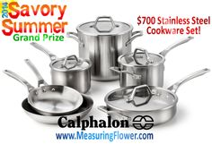 #Enter to #win a $700 10-pc. stainless steel cookware set from @Calphalon! #SavorySummer #whatsfordinner #food #recipe