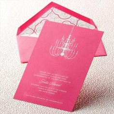 PERFECT for a bachelorette party/ shower invites from Crane & Co.
