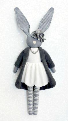 Fabric softie, bunny from Navy Plum