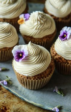Zucchini Cupcakes with Vanilla Frosting- Vegan and Gluten Free from HeatherChristo.com