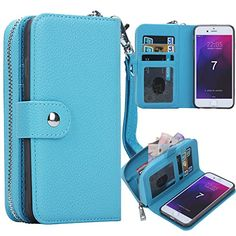 iPhone 7 Plus Case, Pasonomi Magnetic Detachable Removable Wallet Zipper PU Leather Folio Flip Carrying Case with Strap and Credit Card Slot for iPhone 7 Plus (Blue)  http://topcellulardeals.com/product/iphone-7-plus-case-iphone-7-plus-zipper-wallet-case-pasonomi-pu-leather-protective-shell-detachable-folio-flip-holster-carrying-case-with-card-holder-for-iphone-7-plus/?attribute_pa_color=blue  Perfect Design for iPhone 7 Plus 5.5 inch(Big Size), Not fit for iPhone 7 4.7 inc
