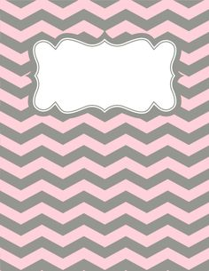 Free printable pink and gray chevron binder cover template. Download the cover in JPG or PDF format at http://bindercovers.net/download/pink-and-gray-chevron-binder-cover/