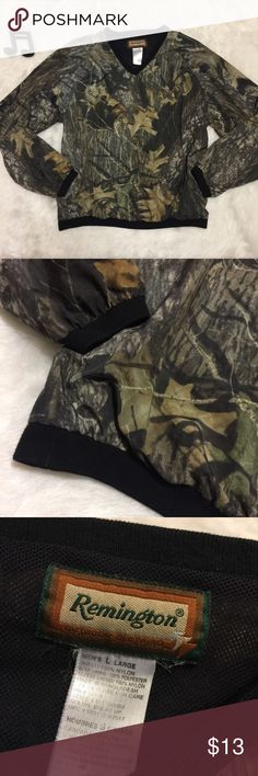 Men's Remington Pullover Lightweight windbreaker pullover by Remington. Realtree pattern. Long sleeves. V neck. No flaws. See measurements in photos for sizing questions.   🔽🔽🔽🔽🔽🔽🔽🔽🔽🔽🔽🔽🔽🔽🔽🔽🔽🔽🔽🔽  • Reasonable offers accepted • Sorry, no modeling & no trades  🔼🔼🔼🔼🔼🔼🔼🔼🔼🔼🔼🔼🔼🔼🔼🔼🔼🔼🔼🔼 Remington Shirts Sweatshirts & Hoodies