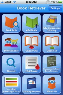 Book Retriever App - keep an inventory of your books, check them out to students, keep track of who has what books, print labels - This will be great for Daily 5 Book Box books!