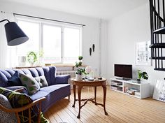 Two floor apartment in Gothenburg 5 Ingeniously Designed Two Floor Apartment With Decadent Accents