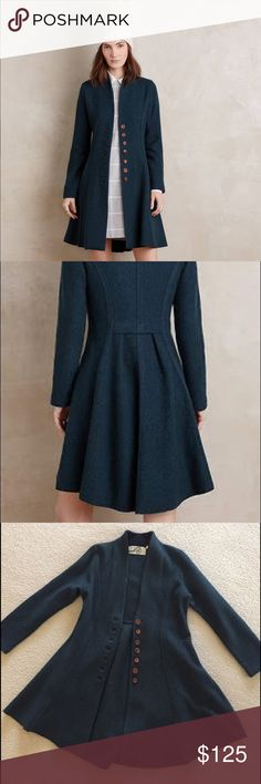 9e186f6e945a8e Rosie Neira Lynes Sweater Coat Anthropologie Lovely deep teal sweater coat  by Rosie Neira, sold