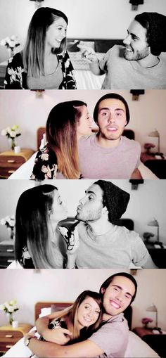 """schoe-ella: """"He totally fancied her right from the beginning. Zoella, Girlfriends, Romance, Relationship, Fancy, Couples, Sexy, Cute, Passion"""
