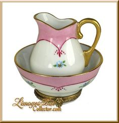 Retired Limoges Boxes | Pitcher & Bowl Limoges Box - Retired