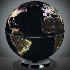 Get inspired to travel around the world with this globe that mimics the sparkling city lights.