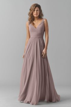 Shop Watters Bridesmaid Dress - 8542i in Crinkle Chiffon at Weddington Way…