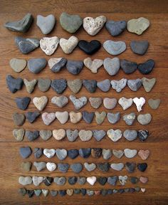 Love heart shaped rocks.