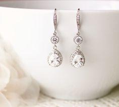 Crystal Bridal Earrings Wedding Earrings by DreamIslandJewellery
