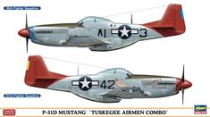 The Hasegawa Mustang Tuskegee Airmen Combo 2 in 1 Model Kit in scale from the plastic aircraft model kits range accurately recreates the real life aircraft. Diecast Model Aircraft, Ww2 Aircraft, Fighter Aircraft, Military Aircraft, Fighter Pilot, Fighter Jets, Camouflage, Tuskegee Airmen, P51 Mustang