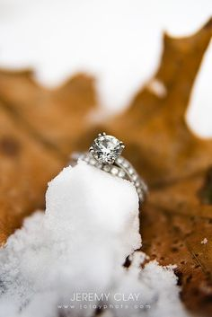 winter engagement or winter wedding!