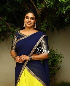 Malayalam Actress, Half Saree, Indian Beauty Saree, India Beauty, Sari, Actresses, Hair Styles, Cute, Cinema