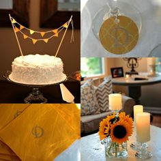Clean & Classic Gray & Yellow Shower + a Target giftcard giveaway #TargetWedding