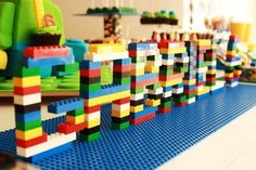 Lego Name for Birthday Party DIY Ideas for Decoration