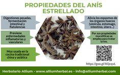 El #anisestrellado es útil en caso de #digestiones pesadas, #gastoenteritis, fermentación intestinal y #flatulencias.
