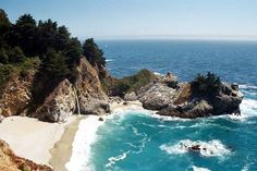 "Kerry and I are going here in April after our wedding!    ""View from McWay Waterfall Trail: .64 mile roundtrip, easy. A quick walk to an overlook facing McWay Falls, an incredible 80-foot waterfall that drops directly onto the sandy beach."""