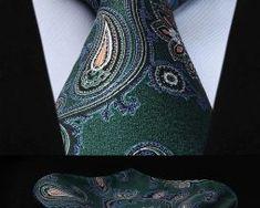 Luxusná kravatová sada - kravata a vreckovka so zeleným Tie, Accessories, Fashion, Moda, La Mode, Cravat Tie, Fasion, Ties, Fashion Models