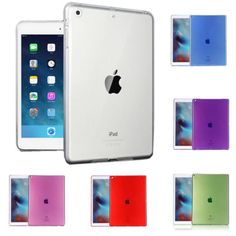 For Apple iPad Pro 9 7  Slim TPU Silicone Gel Transparent Clear Case Cover New | eBay