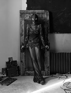 """Sasha Pivovarova in """"Into the Darkness"""" / Photographed by Craig McDean"""