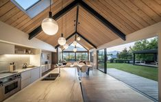 Mason & Wales Architects - Portfolio and Gallery of selected Residential, House Projects throughout New Zealand Modern Barn House, Modern House Design, Barn House Design, Residential Architecture, Architecture Design, Spanish Architecture, Haus Am Hang, Shed Homes, Küchen Design