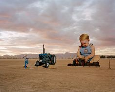 Baby With Tractor at Sunset (vandalized Cerney/Sun Kim sculpture.) Phoenix, Arizona, (photo: Stephen Chalmers) Andy Adams of FlakPhoto works almost exclusively in the virtual world of. Picture Places, Toddler Play, Contemporary Photography, Modern Landscaping, Built Environment, Landscape Photographers, 21st Century, Tractors, Documentaries