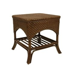 Goa End Table. Rattan & Woven Peel, from Walters Wicker Interior Collection.