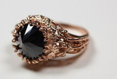 This ring is a play on both the Persephone ring and the Lydia ring, converging dark romance with perfect casts of sparrow claws. Here, this ring